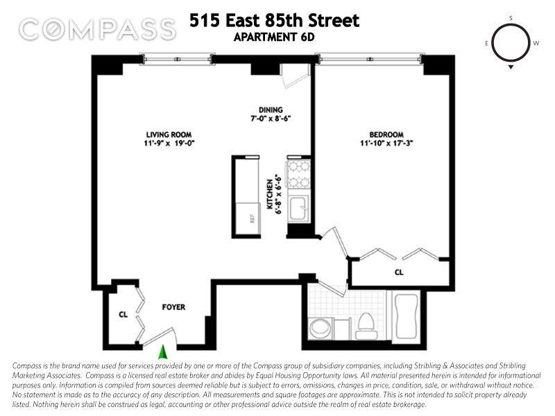 515 East 85th Street, Upper East Side, NYC, $680,000, Web #: 1857992