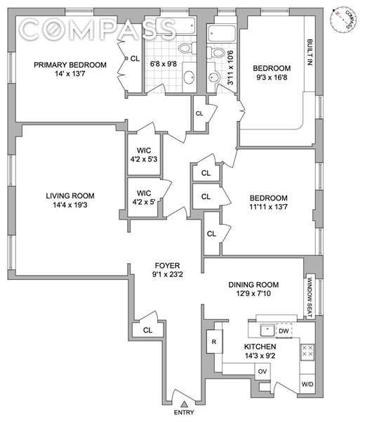 960 Park Ave, Upper East Side, NYC, $2,995,000, Web #: 1905771