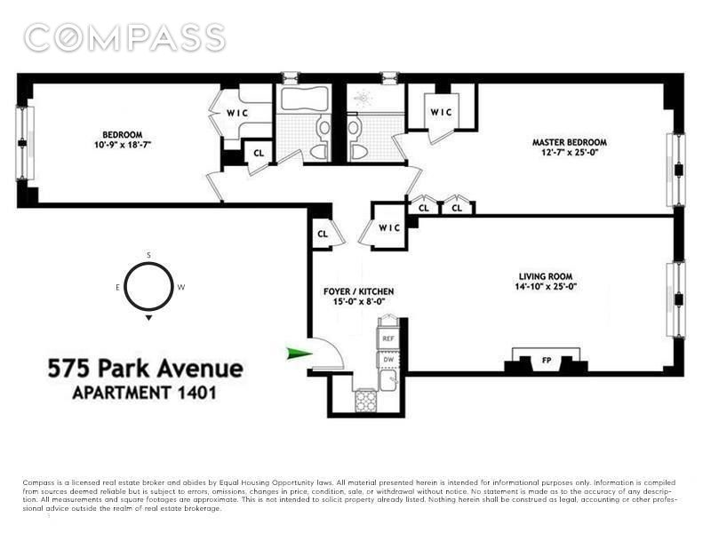575 Park Ave, Upper East Side, NYC, $999,000, Web #: 31400