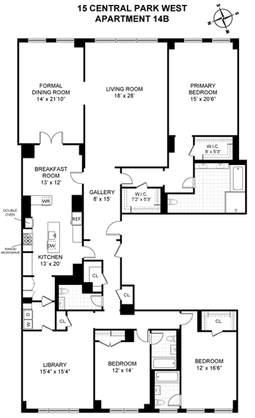 15 Central Park W, Upper West Side, NYC, $58,000, Web #: 6365853