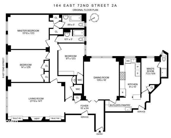 164 East 72nd Street 2A, Upper East Side, NYC, $2,225,000, Web #: 19967346